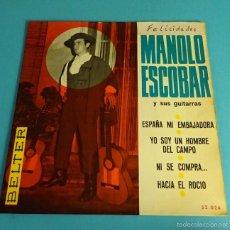 Discos de vinilo: MANOLO ESCOBAR Y SUS GUITARRAS. BELTER. Lote 55328973