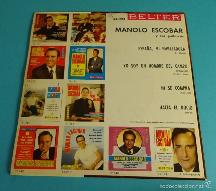 Discos de vinilo: MANOLO ESCOBAR Y SUS GUITARRAS. BELTER - Foto 2 - 55328973