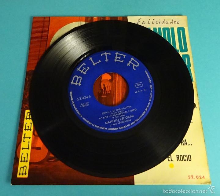 Discos de vinilo: MANOLO ESCOBAR Y SUS GUITARRAS. BELTER - Foto 3 - 55328973