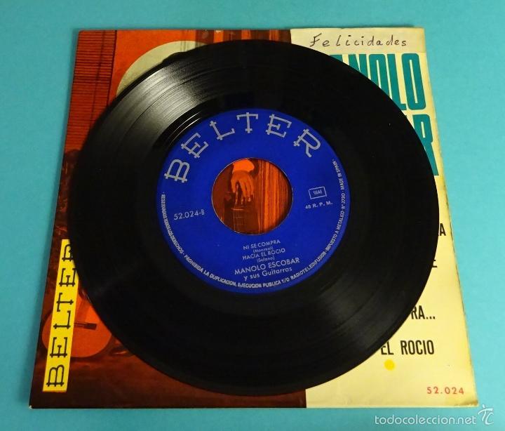 Discos de vinilo: MANOLO ESCOBAR Y SUS GUITARRAS. BELTER - Foto 4 - 55328973
