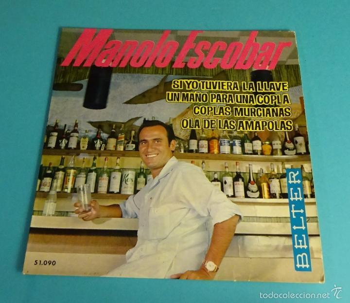 MANOLO ESCOBAR. BELTER (Música - Discos de Vinilo - EPs - Flamenco, Canción española y Cuplé)