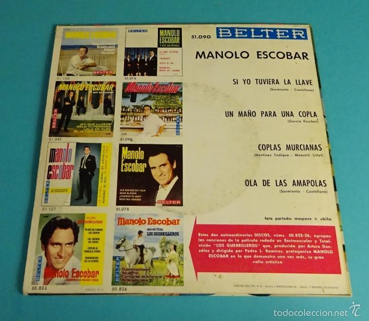 Discos de vinilo: MANOLO ESCOBAR. BELTER - Foto 2 - 55328991