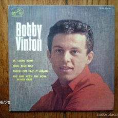 Discos de vinilo: BOBBY VINTON - ST LOUIS BLUES + 3. Lote 55334257