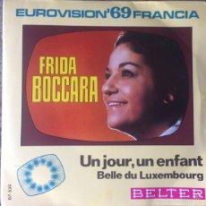 Discos de vinilo: FRIDA BOCCARA - UN JOUR, UN ENFANT . SINGLE . 1969 BELTER . Lote 55334967