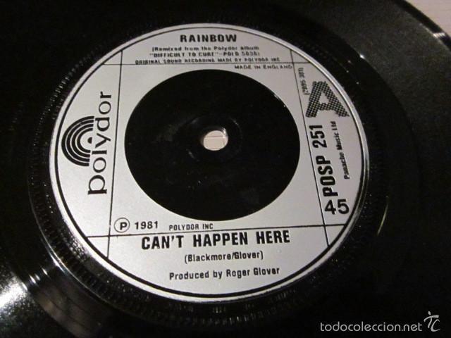 Discos de vinilo: RAINBOW - CANT HAPPEN HERE - SN - EDICION INGLESA DEL AÑO 1981. - Foto 3 - 55340705