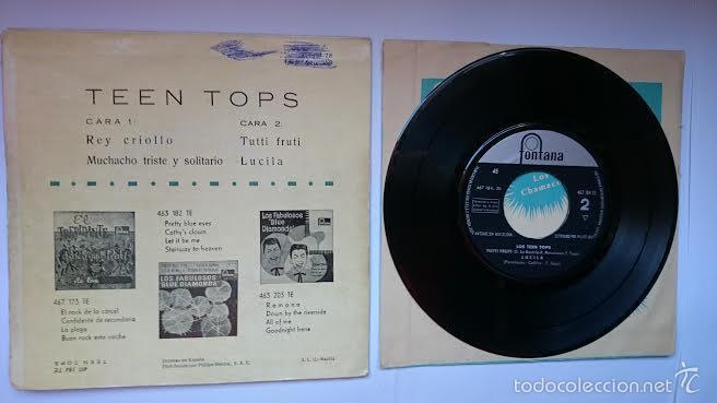 Discos de vinilo: LOS TEEN TOPS - REY CRIOLLO / MUCHACHO TRISTE Y SOLITARIO / TUTTI FRUTI / LUCILA (EP 1961) - Foto 2 - 55340718