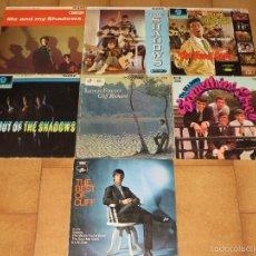 Discos de vinilo: CLIFF RICHARD Y SHADOWS - LOTE 7 DISCOS (PRIMERAS EDICIONES INGLESAS, UK) (ANUNCIO INTERIOR BEATLES). Lote 55343889