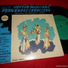 Discos de vinilo: ORFEON MURCIANO FERNANDEZ CABALLERO VILLANCICOS.MURCIANO/NOCHE FELIZ/LA NOCHE SANTA +3 EP 195?. Lote 55344348