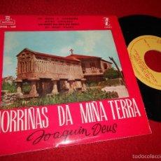 Discos de vinilo: JOAQUIN DEUS MORRIÑAS DA MIÑA TERRA.UN ADIOS A MARIQUIÑA/OS MEUS OLLOS/MEUS AMORES +1 EP 1960 GALIZA. Lote 55344455