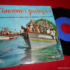 Discos de vinilo: GRUPO DANZAS SECCION FEMENINA FET JONS CANCIONES GALLEGAS.CARBALLESA/JOTA MONTROVE +2 EP 1959 GALIZA. Lote 55344495
