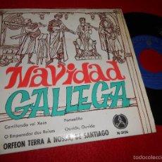 Discos de vinilo: ORFEON TERRA NOSSA SANTIAGO CAMIÑANDO VAI XOSE/PANXOLIÑA +2 EP 1969 NAVIDAD GALLEGA GALIZA PAX. Lote 55344505