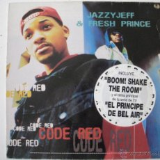 Discos de vinilo: JAZZY JEFF & THE FRESH PRINCE - CODE RED - SPAIN 1993. Lote 55344732