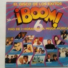 Discos de vinilo: ¡BOOM! 6 - SPAIN 1990 (D0BLE LP) - COMO NUEVO -. Lote 221601193