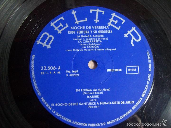Discos de vinilo: LP RUDY VENTURA Y SU ORQUESTA (NOCHE DE VERBENA) - BELTER-1970 - Foto 3 - 55346719