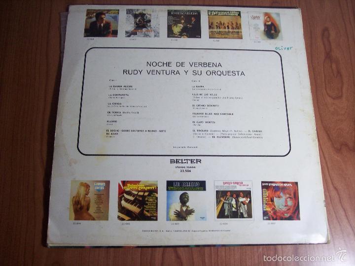 Discos de vinilo: LP RUDY VENTURA Y SU ORQUESTA (NOCHE DE VERBENA) - BELTER-1970 - Foto 4 - 55346719