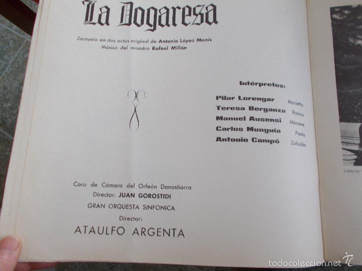 Discos de vinilo: LA DOGARESA. CON LIBRETO - Foto 4 - 55347975