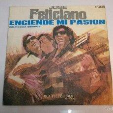 Discos de vinilo: JOSÉ FELICIANO.ENCIENDE MI PASION.CALIFORNIA DREAMIN.SINGLE.ESPAÑA 1968.RCA VICTOR.. Lote 55353500