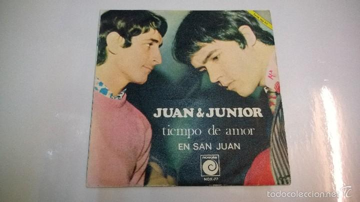 JUAN Y JUNIOR.TIEMPO DE AMOR.SINGLE.ESPAÑA 1968.NOVOLA. (Música - Discos - Singles Vinilo - Grupos Españoles 50 y 60)