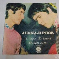 Discos de vinilo: JUAN Y JUNIOR.TIEMPO DE AMOR.SINGLE.ESPAÑA 1968.NOVOLA.. Lote 55354647