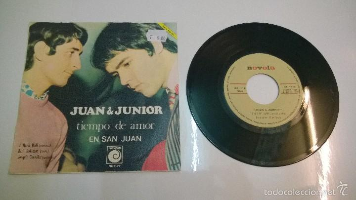 Discos de vinilo: Juan y Junior.Tiempo de amor.SINGLE.ESPAÑA 1968.NOVOLA. - Foto 2 - 55354647