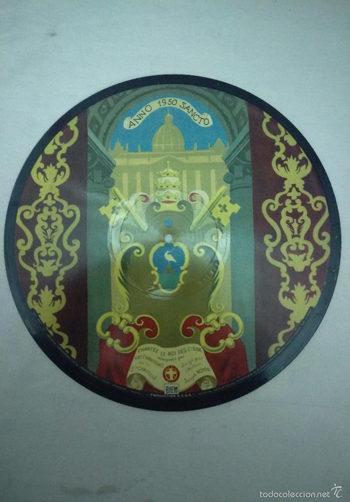 Discos de vinilo: DISCO AÑO SANTO 1950 PIO XII CHANTEZ LE ROI DES CIEUX - Foto 3 - 55356673