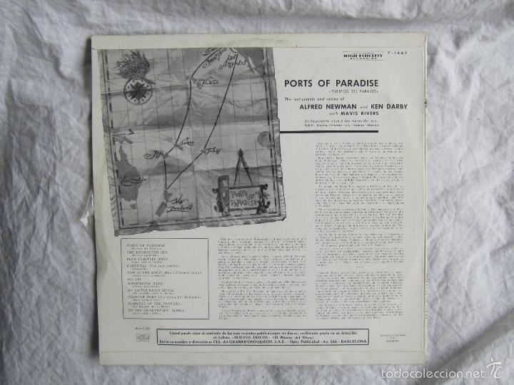 Discos de vinilo: Ports of Paradise Alfred Newman & Ken Darby 1961 - Foto 2 - 55357061