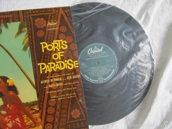 Discos de vinilo: Ports of Paradise Alfred Newman & Ken Darby 1961 - Foto 3 - 55357061