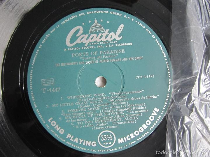 Discos de vinilo: Ports of Paradise Alfred Newman & Ken Darby 1961 - Foto 4 - 55357061