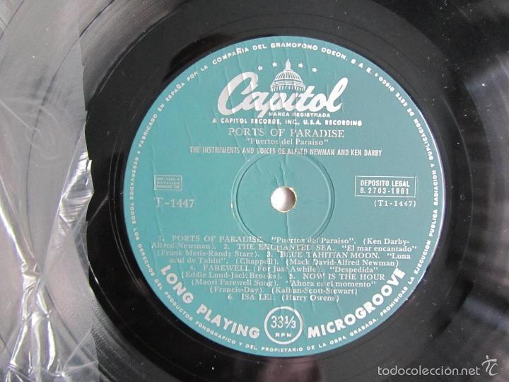 Discos de vinilo: Ports of Paradise Alfred Newman & Ken Darby 1961 - Foto 5 - 55357061