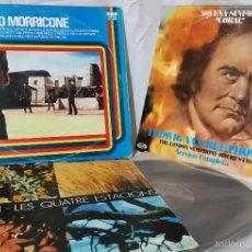 Discos de vinilo: 3 VINILOS CLÁSICOS - AÑOS 80 - MORRICONE - BEETHOVEN - VIVALDI - MÚSICA ORQUESTA. Lote 55360180