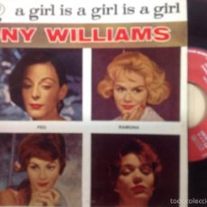 Discos de vinilo: TONY WILLIAMS -A GIRLS IS A GIRLS IS A GIRL -EP 1959. Lote 55361877