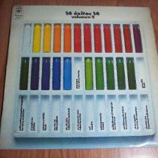 Discos de vinilo: LP 14 ÉXITOS VOLUMEN 2 (VARIOS ARTISTAS) CBS-1972. Lote 55365010