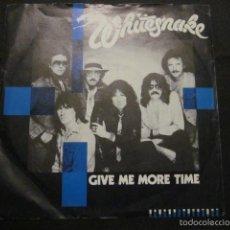 Discos de vinilo: WHITESNAKE - GIVE ME MORE TIME - SN - EDICION INGLESA DEL AÑO 1984.. Lote 55368829