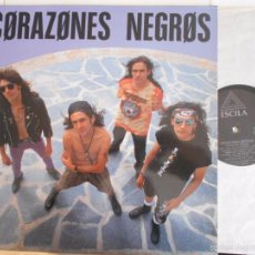 Discos de vinilo: CORAZONES NEGROS-LP 1992-NUEVO. Lote 55376631