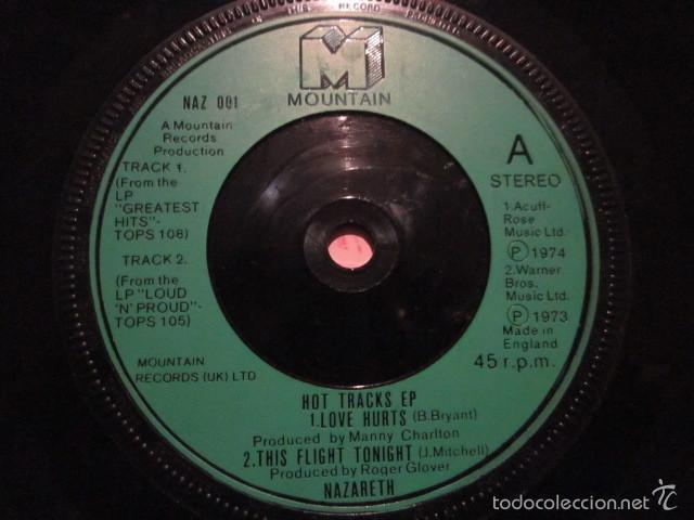 Discos de vinilo: NAZARETH - HOT TRACKS - SN - 4 TEMAS - EDICION INGLESA. - Foto 3 - 55378621
