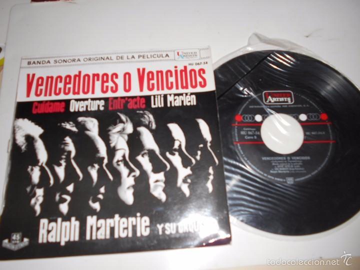 VENCEDORES Y VENCIDOS-EP BSO DEL FILM -1962 (Música - Discos de Vinilo - EPs - Bandas Sonoras y Actores)