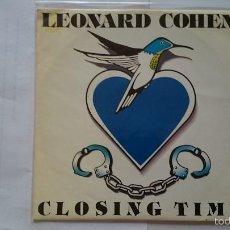 Discos de vinilo: LEONARD COHEN - CLOSING TIME (PROMO 1992). Lote 55386201