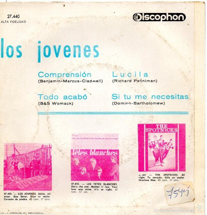 Discos de vinilo: JOVENES, EP, COMPRENSION + 3, AÑO 1965 - Foto 2 - 55391977