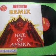 Discos de vinilo: VOICE OF AFRIKA ALBINONI REMIX MAXI ITALIA 1991 PDELUXE. Lote 55392994