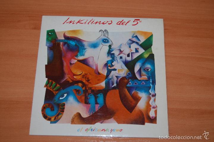 EP DISCO VINILO INKILINOS DEL 5º EL AFRICANO +1 (Música - Discos de Vinilo - EPs - Grupos Españoles de los 90 a la actualidad)