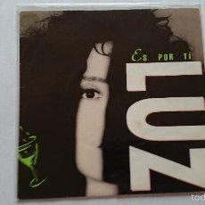 Disques de vinyle: LUZ - ES POR TI / ES POR TI (PROMO 1992). Lote 55423383