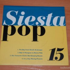 Discos de vinilo: EP DISCO VINILO SIESTA POP 15 . Lote 55424356