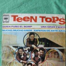 Discos de vinilo: TEEN TOPS - QUIEN PUSO EL BOMP/UNA GRAN FIESTA/MUCHO AMOR/ZAPATOS DE ANTE AZUL EP 1962 - ROCK & ROLL. Lote 55503729