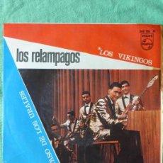 Discos de vinilo: LOS RELÁMPAGOS / LOS VIKINGOS / EL PASO DE LOS URALES / SINGLE 1967. Lote 55568119