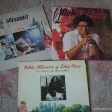 Discos de vinilo: LPS PABLO MILANÉS. EL GUERRERO, PABLO MILANÉS Y LILIA VERA Y QUERIDO PABLO. IMPECABLES. Lote 55572243