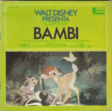 Discos de vinilo: WALT DISNEY,BAMBI CUENTO Y DISCO DEL 67. Lote 55630941
