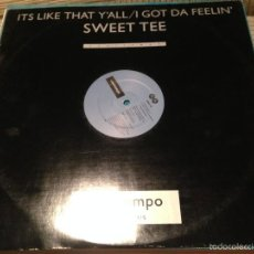 Discos de vinilo: SWEET TEE - IT'S LIKE THAT Y'ALL - MAXI UK COOLTEMPO 1987 - HIP HOP. Lote 55643989