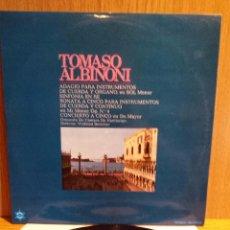 Discos de vinilo: TOMASO ALBINONI. ADAGIO PARA INSTRUMENTOS DE CUERDA Y ORGANO.LP/BRONCO MUSIC. ***/***. Lote 55673944