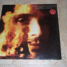 Discos de vinilo: NACHO CANO-LP- UN MUNDO SEPARADO POR EL MISMO DIOS ED. VIRGIN, 1984, 840 076-1 PRECINTADO-. Lote 171780079