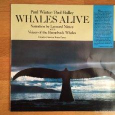 Discos de vinilo: PAUL WINTER/ PAUL HALLEY: WHALES ALIVE. Lote 55685456